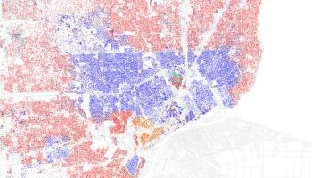 Detroit Racial Dot Map DETROITography - Us census dot map