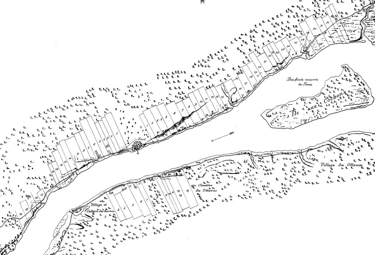 Detroit Ribbon Farms Map 1796