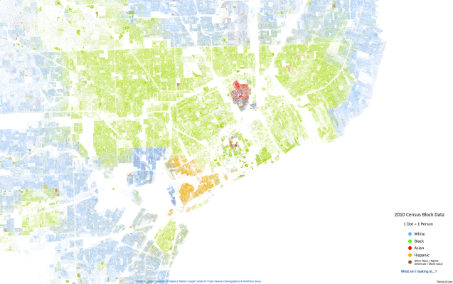 Detroit Racial Dot Map  DETROITography