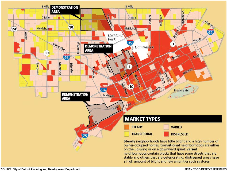 Detroit Neighborhood Markets Map  DETROITography