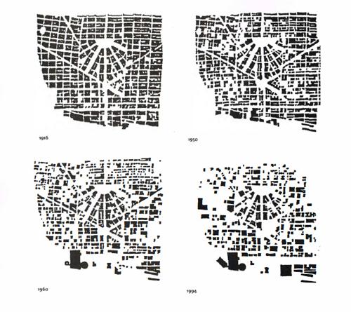 map  gaps downtown in detroit u2019s urban decline