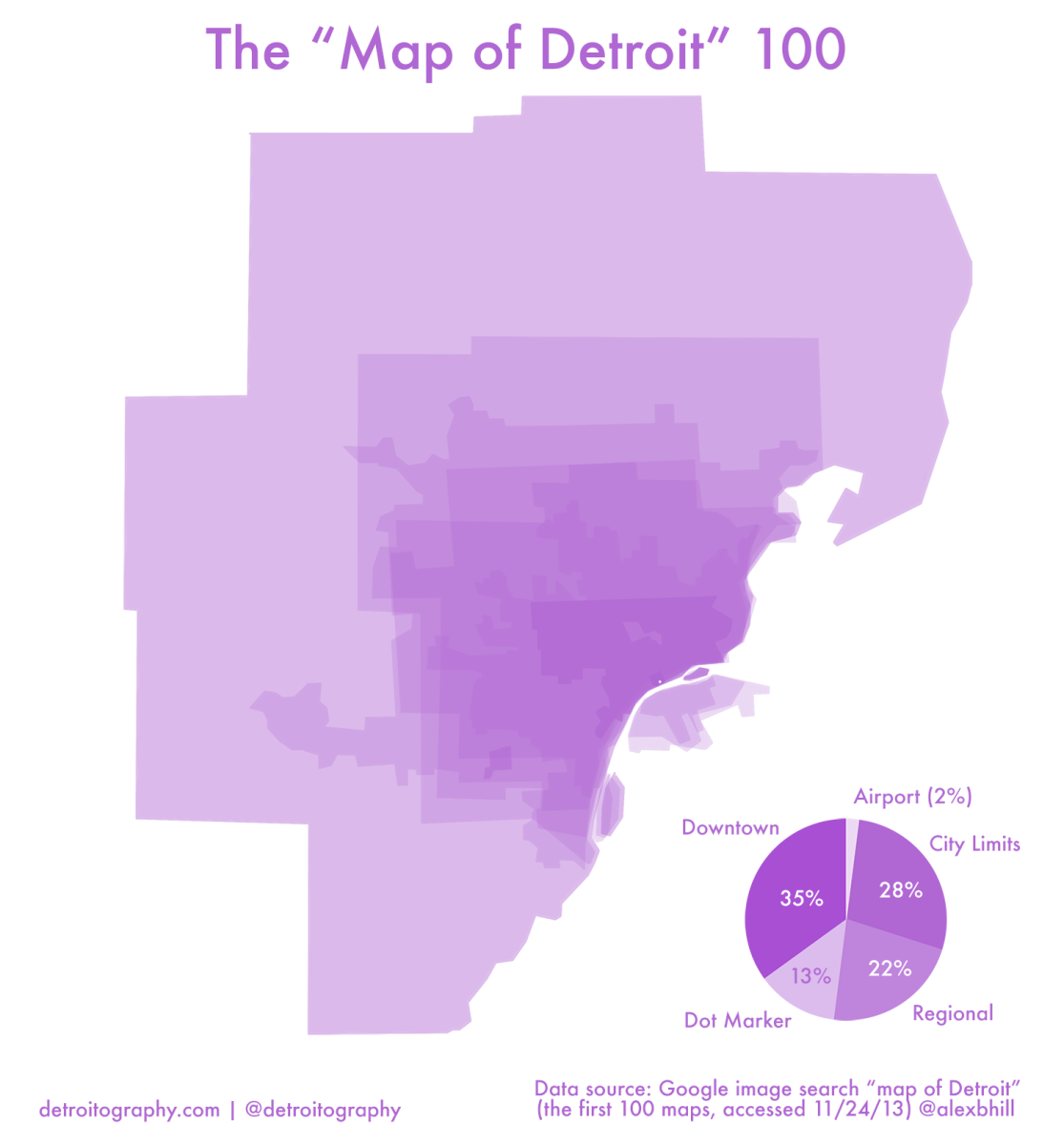 100 Maps of Detroit