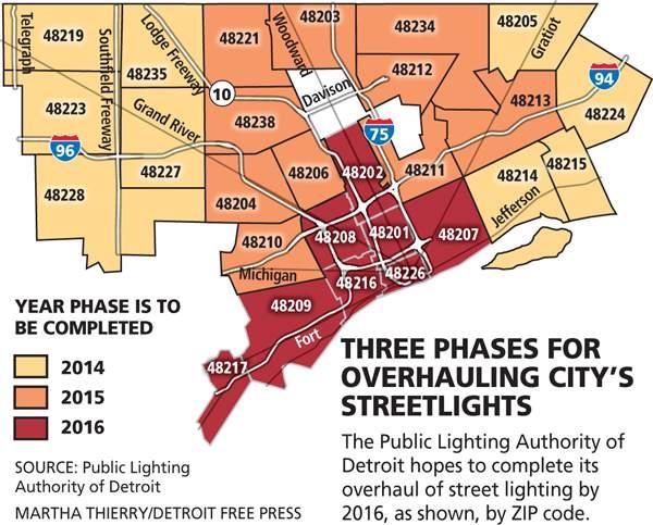 Detroit Streetlights Overhaul Map  DETROITography