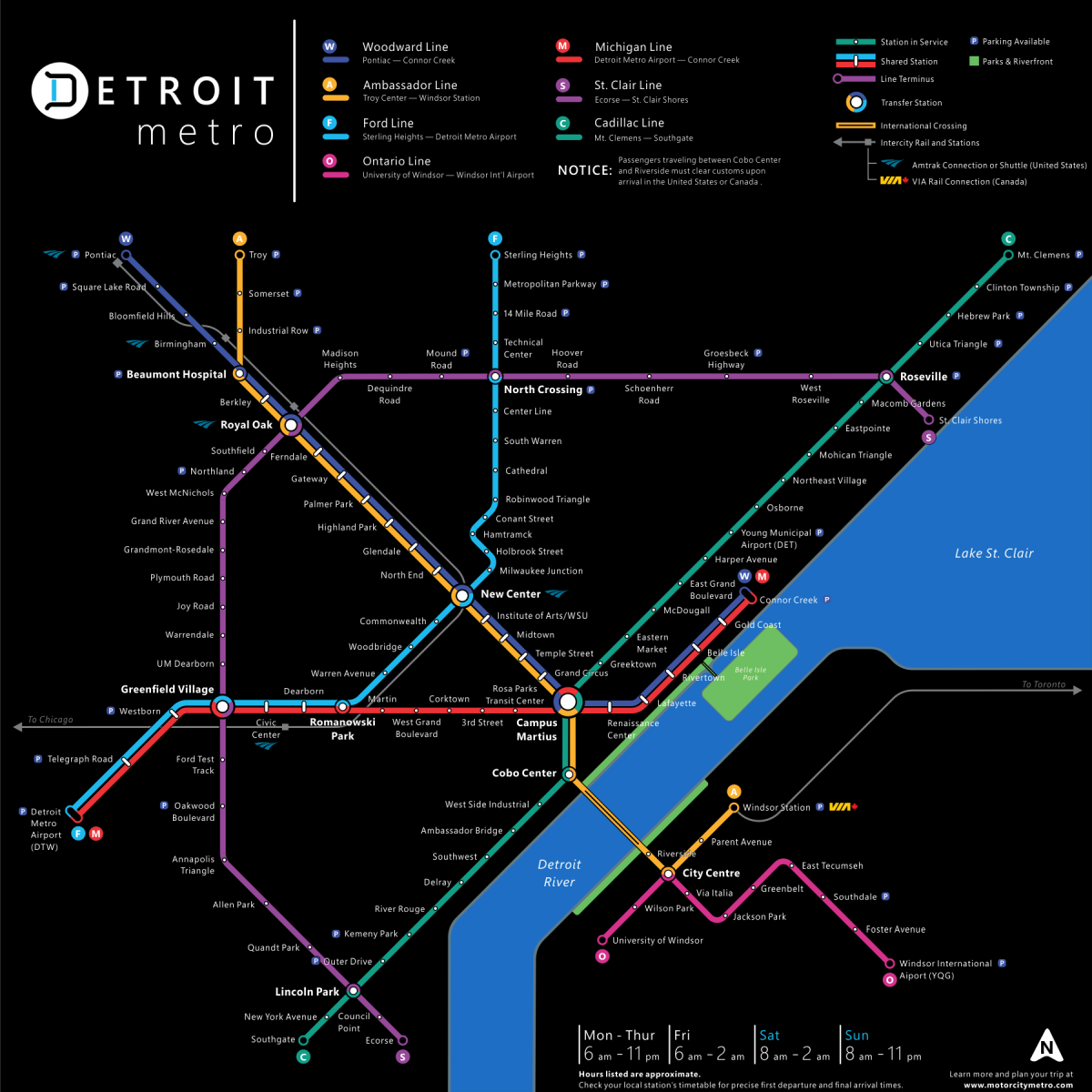 Updated Detroit Metro Transit Fantasy Map