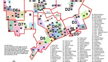 Detroit District Map on