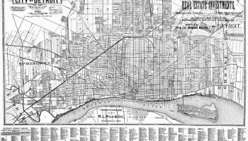 Map: Detroit Annexation and Wayne County 1922   DETROITography