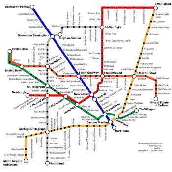 Detroit Subway Map