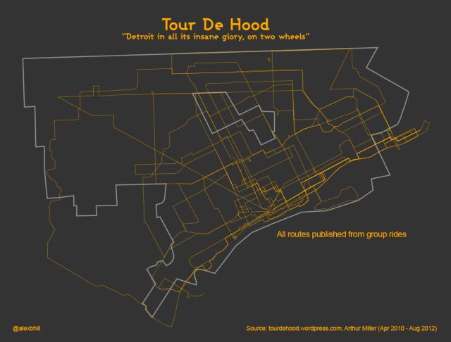 Map Tour De Hood Cycles Across Detroit Detroitography