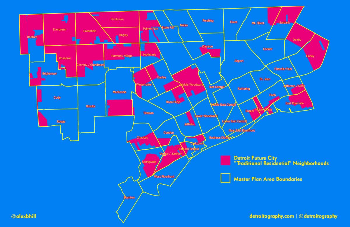 detroit future city  u201cneighborhoods u201d map