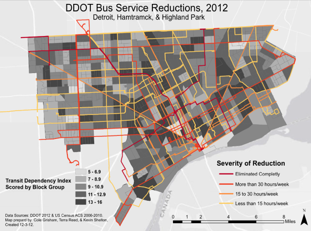 transit reductions