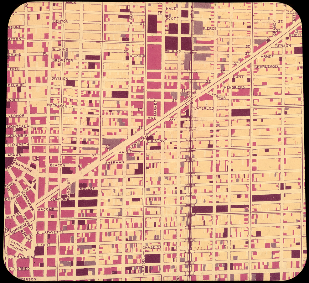 Detroit Street Map Transparency   DETROITography