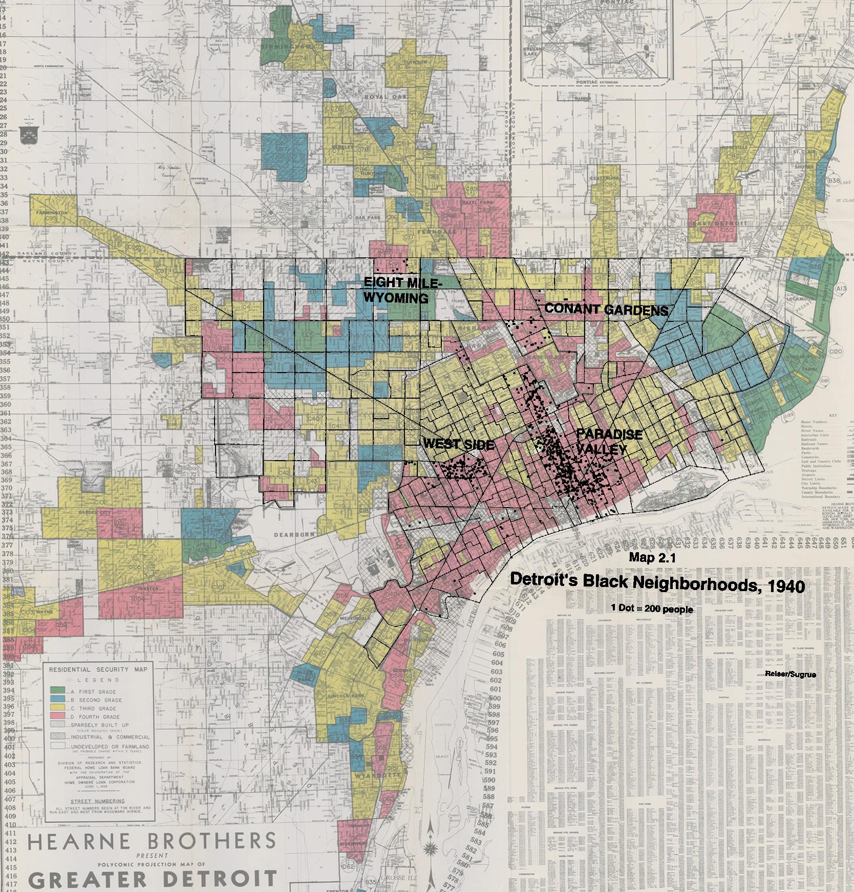 Detroit Redlining Map 1939 | DETROITography on