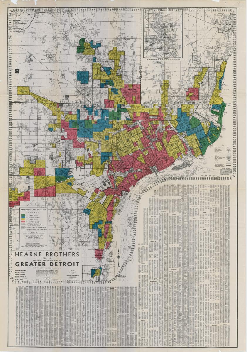 Detroit Michigan Map Google.Detroit Redlining Map 1939 Detroitography