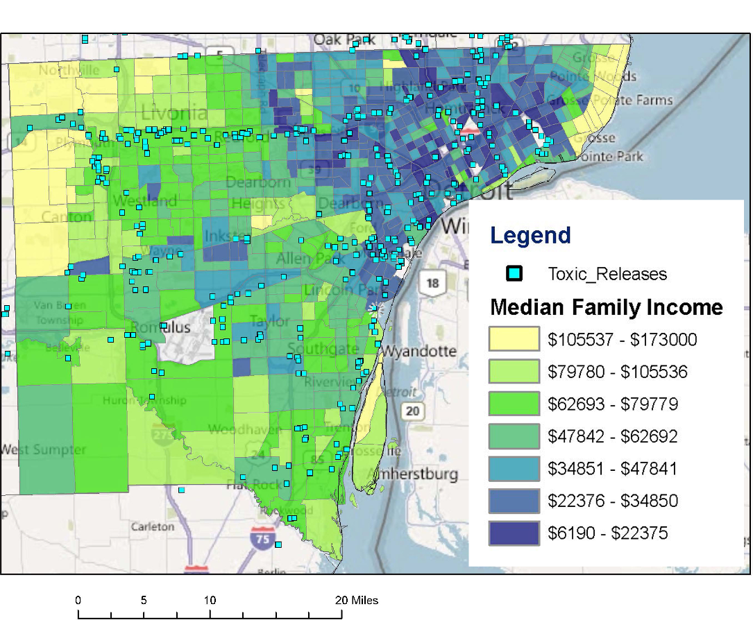 Map Income Race And Toxic Release In Detroit Detroitography