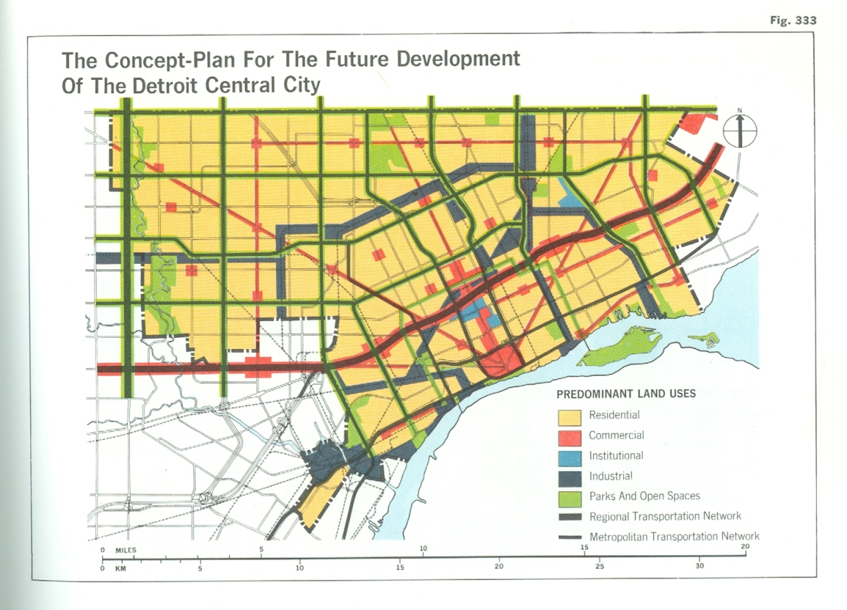 Map: Detroit Future City 1970