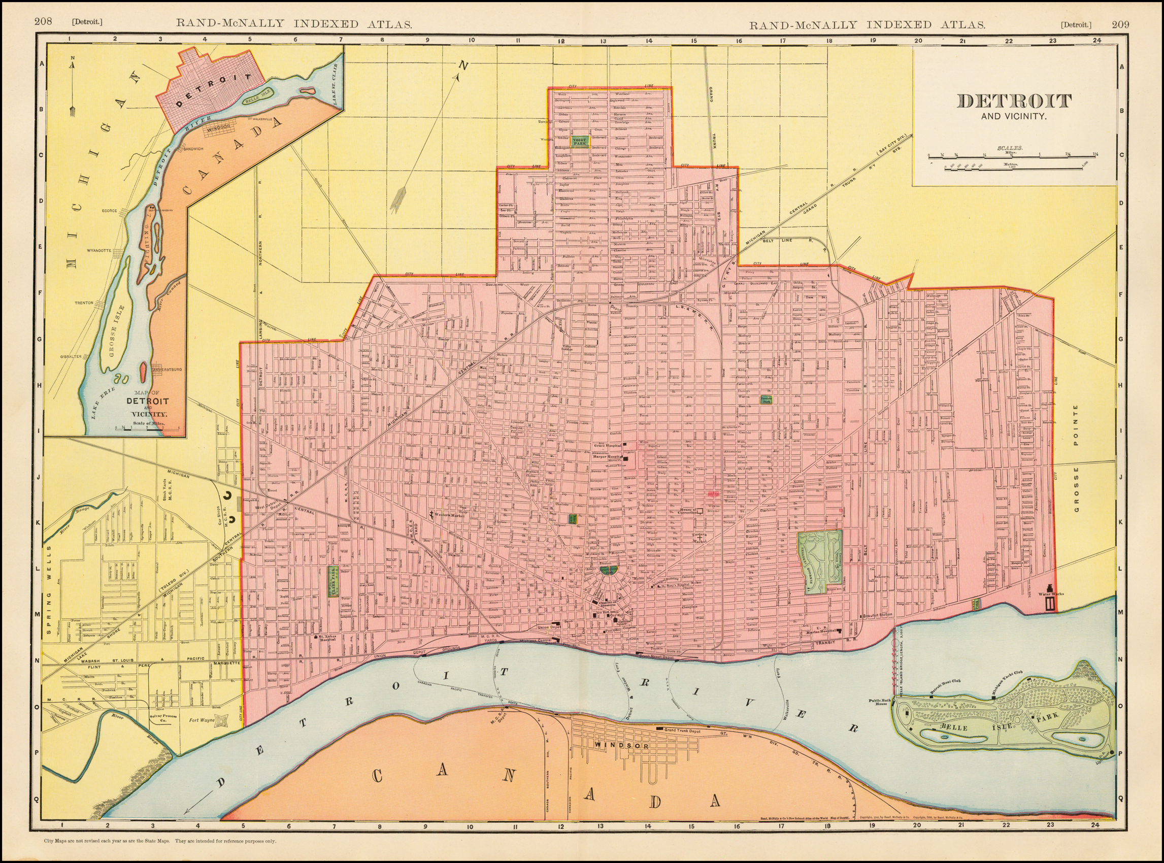 Map: Detroit and Vicinity 1910 | DETROITography on