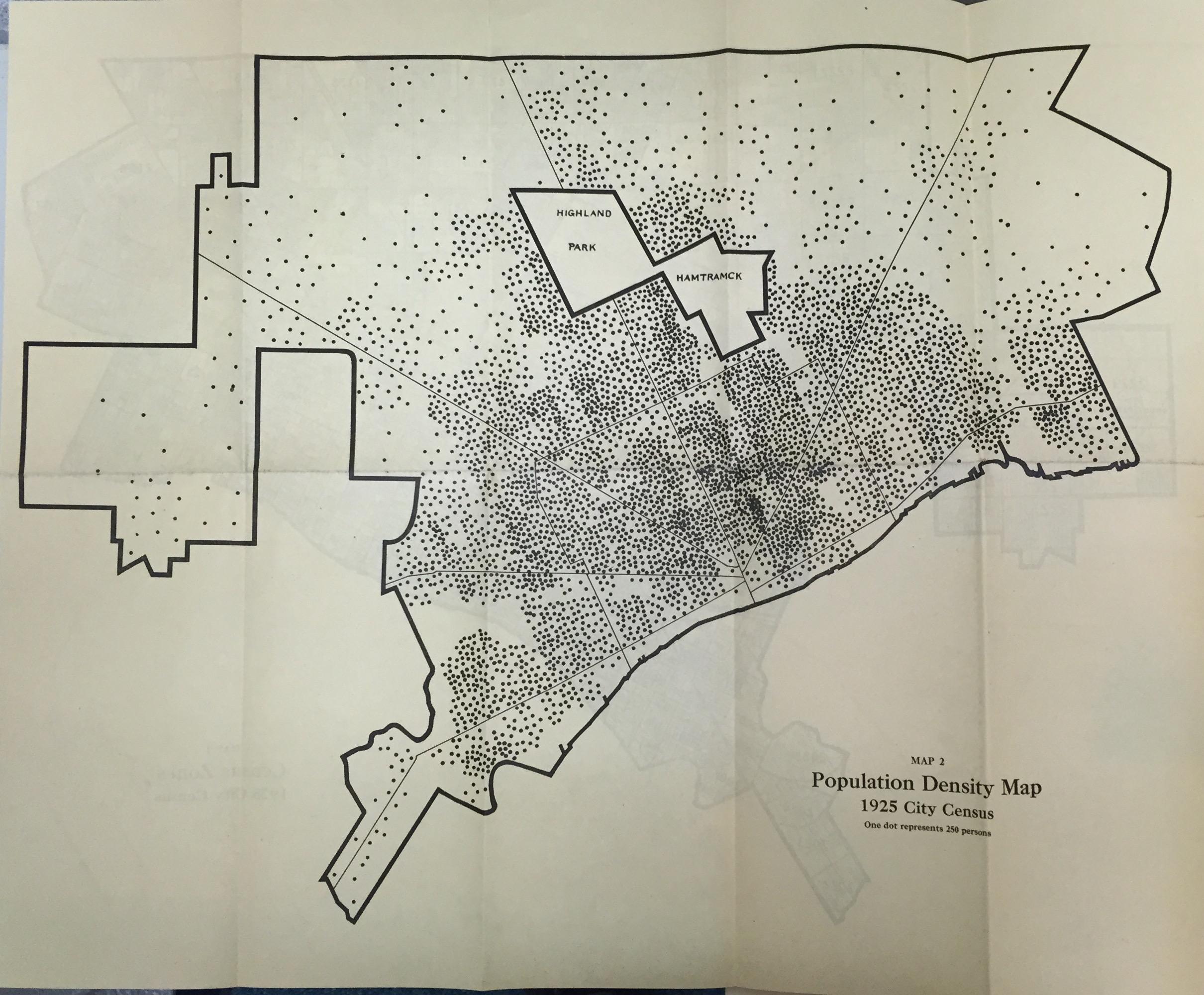 Population Density Map Detroit City Census DETROITography - Us population density map census tract