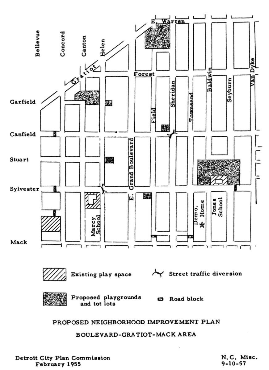 Map: Proposed Play Space in Gratiot-Mack Neighborhood