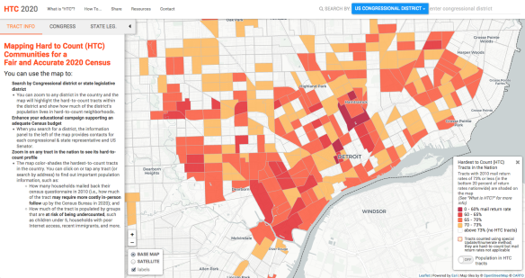 Map: Census 2020 Detroit Hard to Count Areas | DETROITography on art map, war map, 1920 political world map, dining map, ancestry map, weather map, tourism map, traffic map, info map, data map, zoning map, civil map, maps and gis, city map, famine map, parcel maps, elections map,