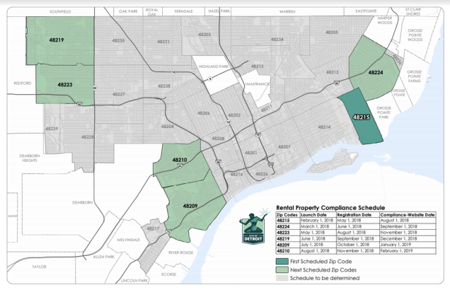 Map: Detroit Rental Property Compliance 2018 | DETROITography on