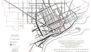 Map Detroit 1941 Traffic Volumes Detroitography